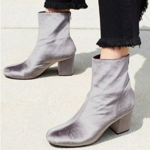 NWOT Free People Cecile Grey Suede Ankle Booties